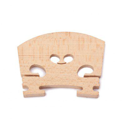 Maple 4/4 Violin BridgeViolin Parts<br>Maple 4/4 Violin Bridge<br><br>Application: Violin Use<br>Materials: Wood<br>Package Contents: 1 x Violin Bridge<br>Package size: 6.00 x 1.00 x 4.00 cm / 2.36 x 0.39 x 1.57 inches<br>Package weight: 0.0250 kg<br>Product size: 5.10 x 0.50 x 4.00 cm / 2.01 x 0.2 x 1.57 inches<br>Prouduct Weight: 0.0030 kg