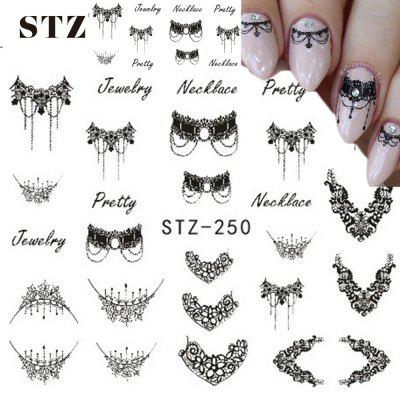 Necklace Jewelry Manicure Tools Nail Sticker Labels