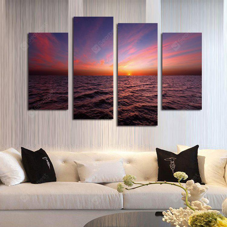 4PCS Print Sunset Wall Decor for Home Decoration