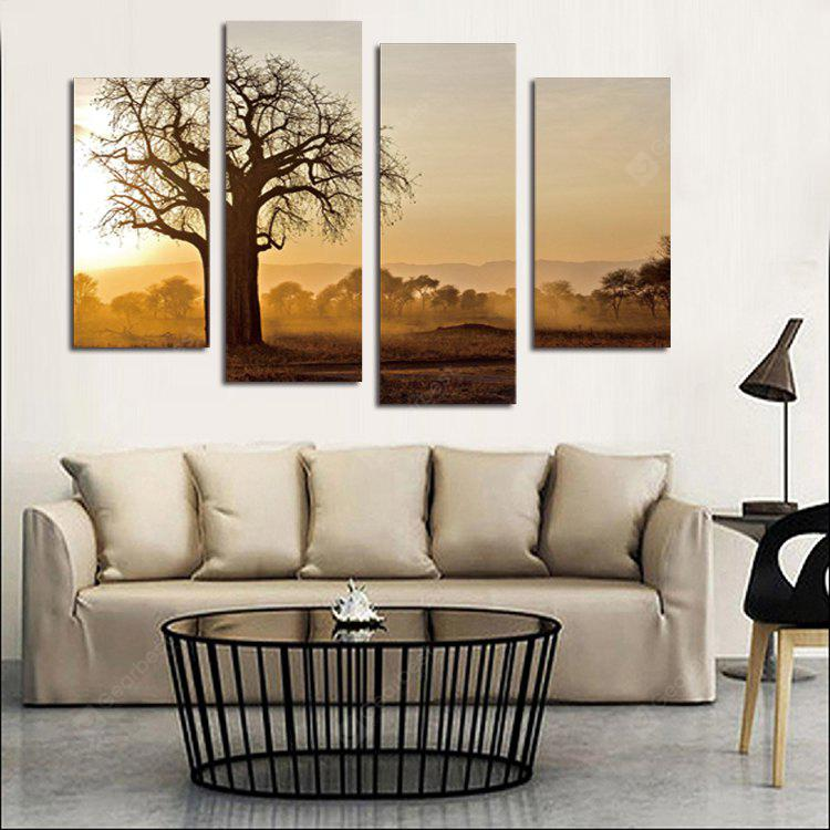 4PCS Print Withered Tree Wall Decor for Home Decoration