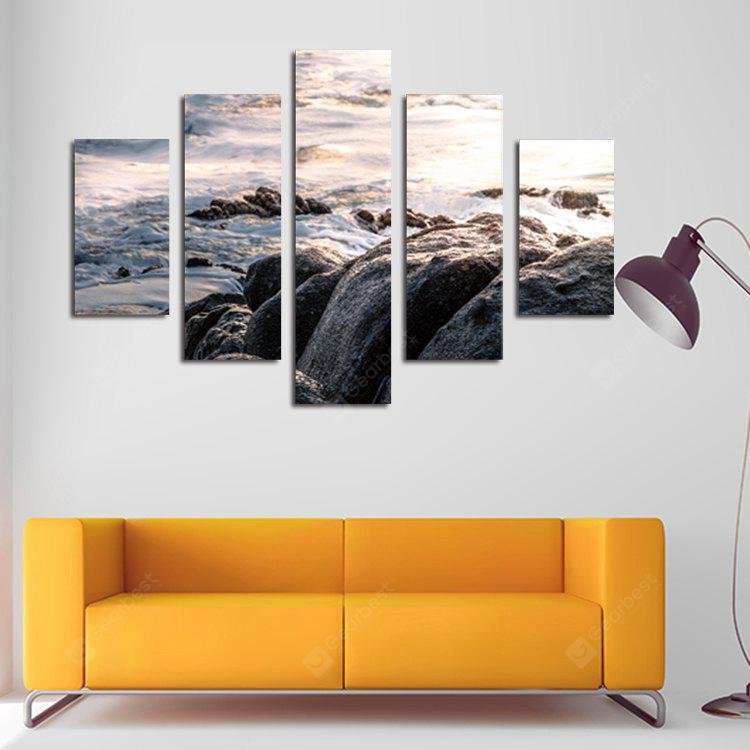 5PCS Print Rock Wall Decor for Home Decoration