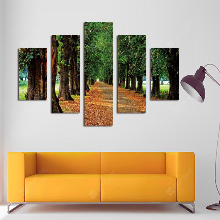 5PCS Print Boulevard Wall Decor for Home Decoration