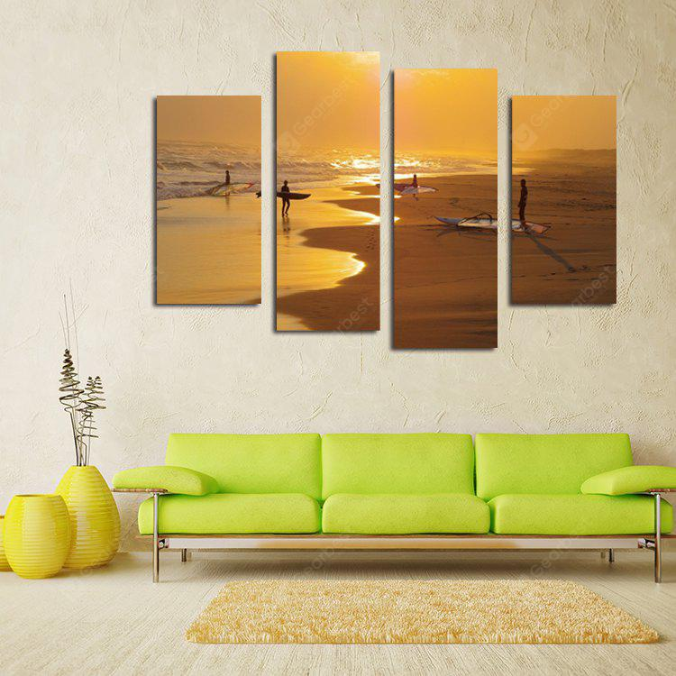 4PCS Surfing Printing Canvas Wall Decoration