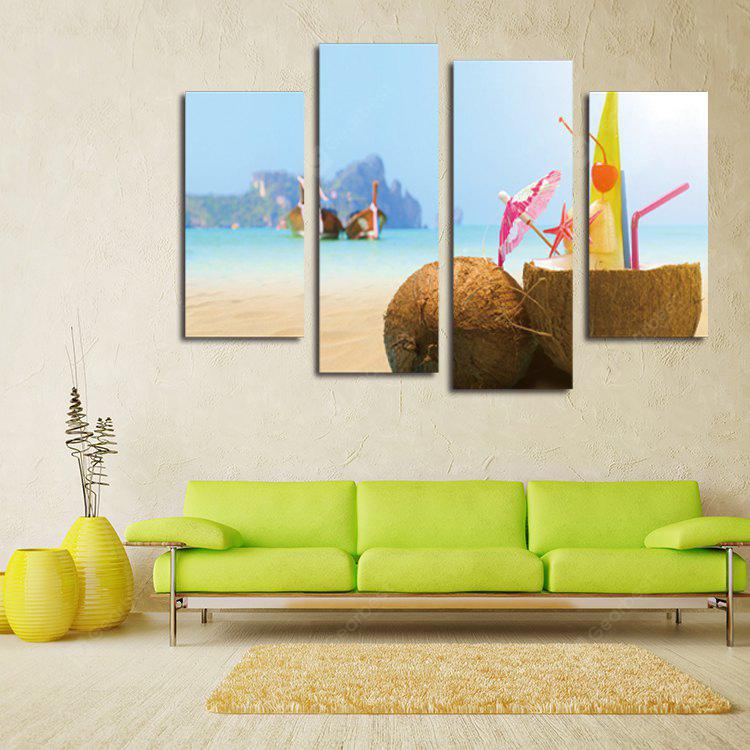 Creative Coconut Shell Printing Canvas Wall Decoration