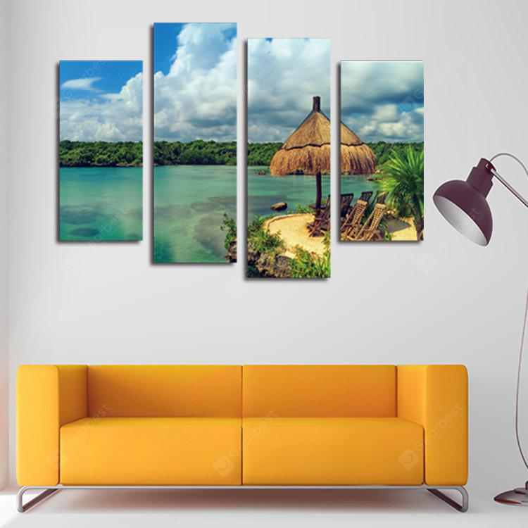 4PCS Modern Print Blue Sky Wall Decor Home Decoration