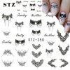 Necklace Jewelry Manicure Tools Nail Sticker Labels - BLACK