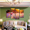 4PCS Modern Print Lavender Tulip Wall Decor Home Decoration - MULTI