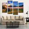 4PCS Print Dawn of Grassland Wall Decor for Home Decoration - MULTI