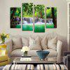 Green Waterfall Printing Canvas Wall Decoration - COLORMIX