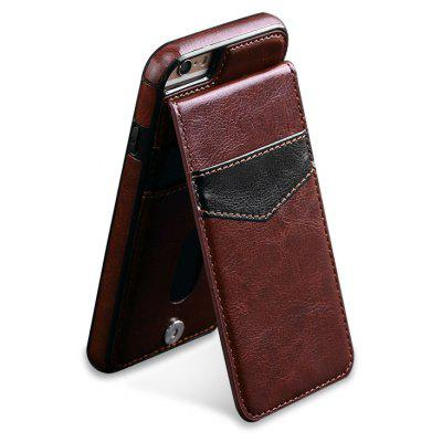 Buy BROWN Business Model Leather Phone Cover for iPhone 6 Plus / 6S Plus for $4.25 in GearBest store
