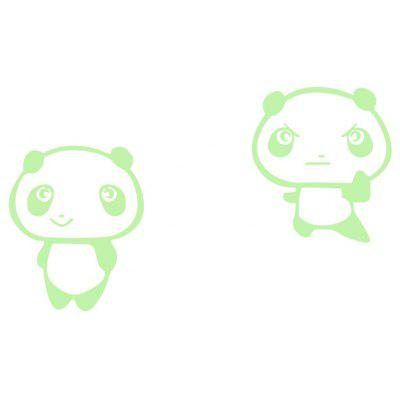 Creative Luminous Small Panda Design Switch Sticker