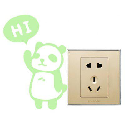 Creative Greeting Small Panda Design Switch Sticker