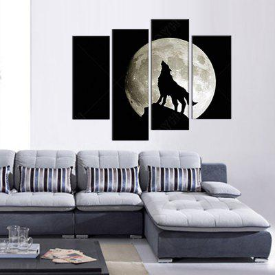 Moonlight Wolf Printing Canvas Wall Decoration