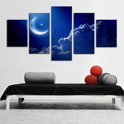 Moon Canvas Print Abstract Wall Decor for Home Decor