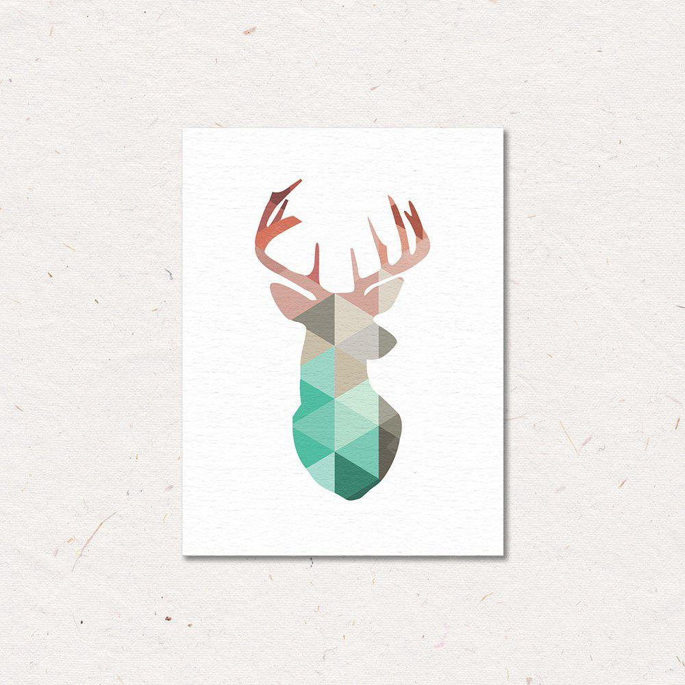Canvas Print Painting Colorful Reindeer Home Decoration