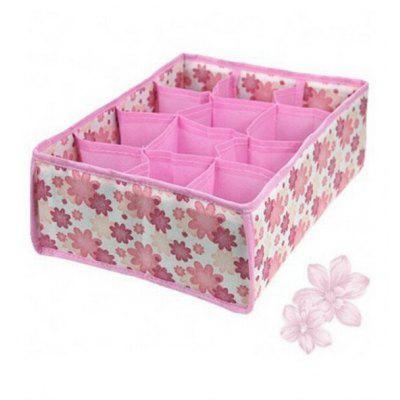 Folding 12-grid Storage Box for Bra Underwear Socks