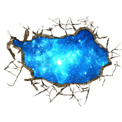 3D Starry Sky Design Removable Sticker