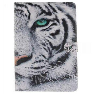 White Tiger Painted PU Leather Case for Samsung Galaxy Tab A T350