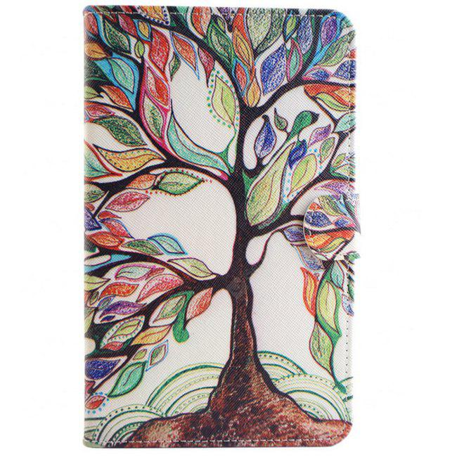 Colorful Tree Tablet Ultra Thin Cover pour Samsung Tab 4 T330