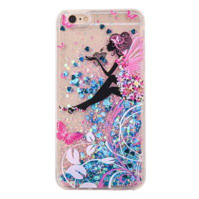 Buy COLORMIX Glitter Powder Girl Style Phone Cover for iPhone 6 Plus / 6S Plus for $4.20 in GearBest store