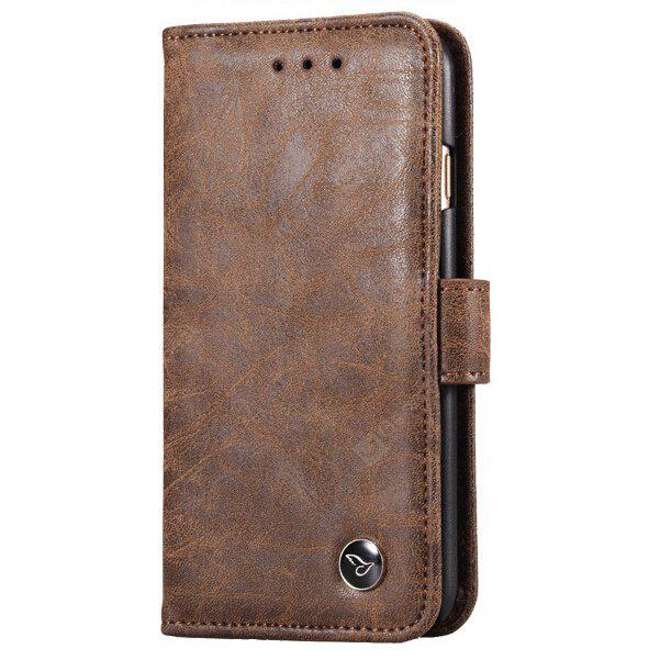 BROWN Retro Leather Scrub Phone Cover Case for Samsung Galaxy S8