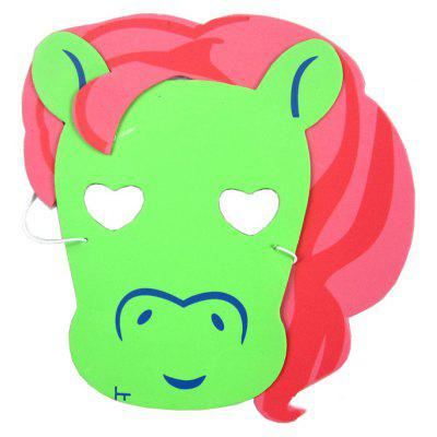 EVA Performance Props Cartoon Mask of Red Horse