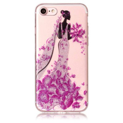 Buy COLORFUL Butterfly Pretty Girl Design Phone Cover for iPhone 7 for $3.55 in GearBest store