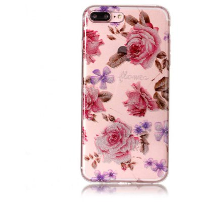 Buy COLORFUL Unique Rose Pattern Phone Case for iPhone 7 Plus for $3.17 in GearBest store