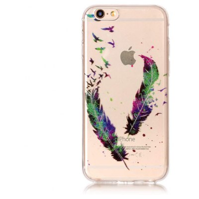 Buy COLORFUL Feather Pattern Phone Case for iPhone 6 Plus / 6S Plus for $3.90 in GearBest store