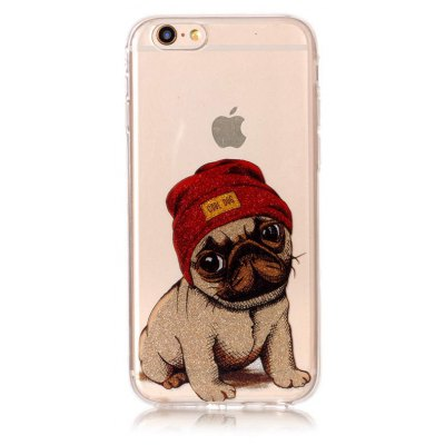 Cute Dog Phone Cover para iPhone 6 Plus / 6S Plus