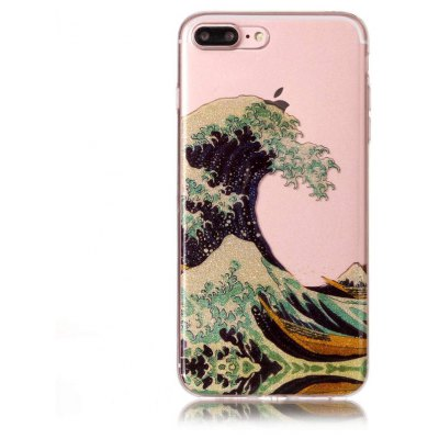 Buy COLORMIX Chic Ocean Wave Theme Phone Cover Case for iPhone 7 Plus for $3.62 in GearBest store