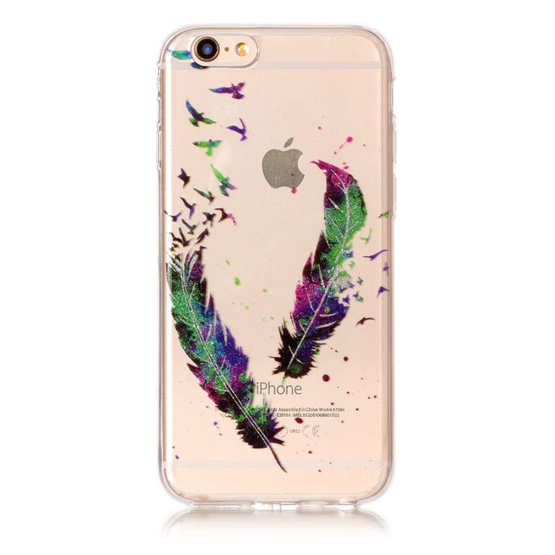 Feather Pattern Phone Case para iPhone 6 Plus / 6S Plus