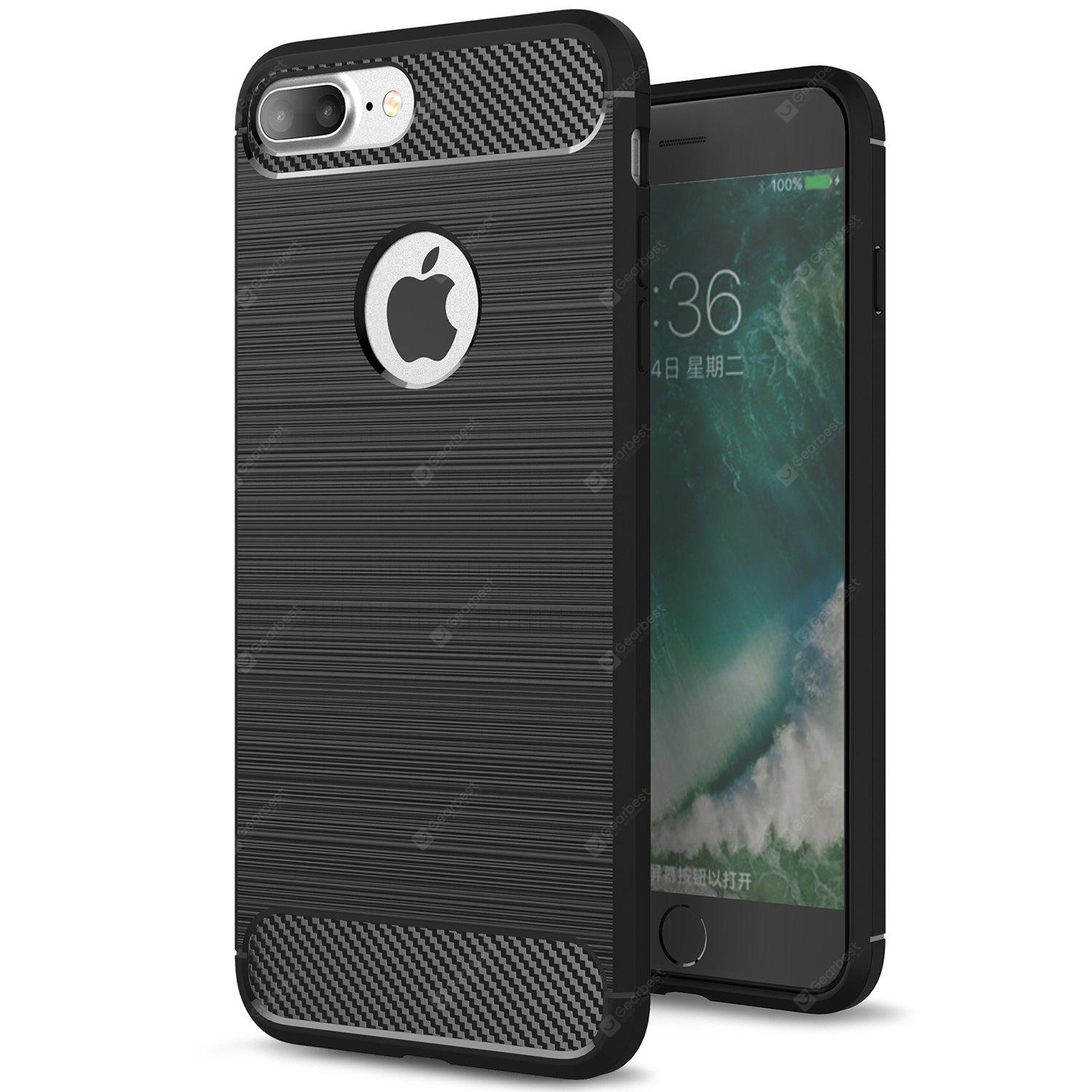 ASLING Carbon Fiber TPU Soft Case Cover for iPhone 7 Plus