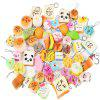 10pcs Squishy Mini Release Stress Slow Rising Toys of Facial Expressions - COLORMIX