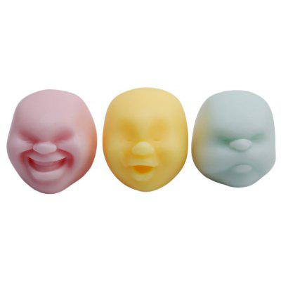 Buy COLORMIX Creative Jumbo Squishy Anti-stress Helper Vent Face Ball for $2.33 in GearBest store