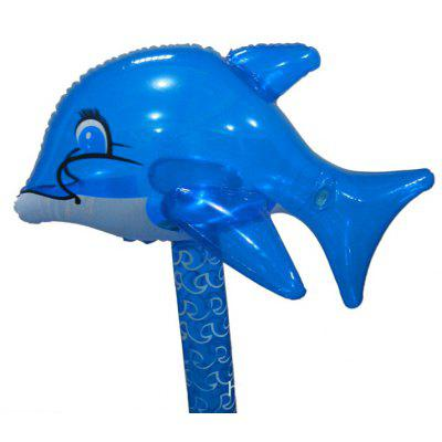 Self-inflate Gas Hammer Toy of Dolphin