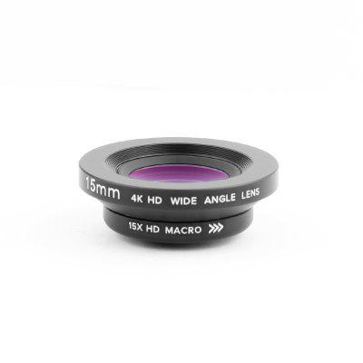 Pholes PH8140 Phone Wide Angle Micro Lens 3 in 1 fish eye macro wide angle clip lens white black