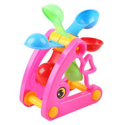 Outdoor Beach Toy Windmill of Fish Shape Model