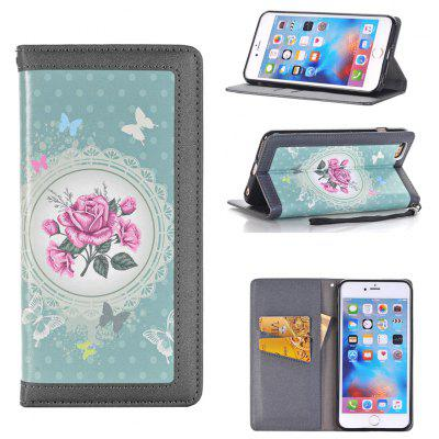 Flower Pattern PU + ABS Fullbody Cover Case for iPhone 7