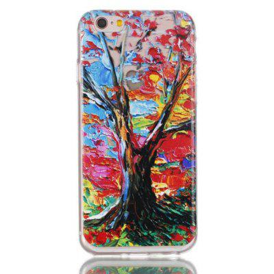 Colorful Tree Drawing TPU Phone Case for iPhone 6 / 6S