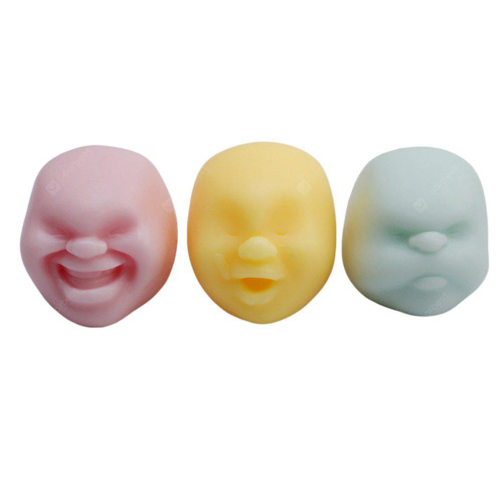 Buy Creative Squishy Anti-stress Helper Vent Face Ball COLORMIX