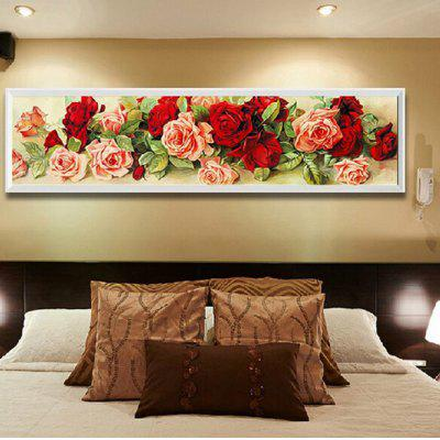 DIY Rhinestone Embroidery Stitch Rose Diamond Wall Painting