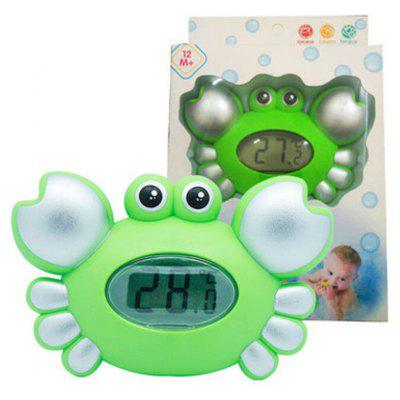 Cute Crab Pattern Baby Bath, flutuante Toy Tub Thermometer