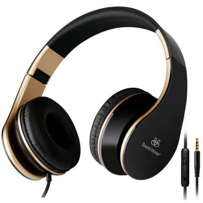 SoundIntone I65 Wired Foldable Stereo Headset