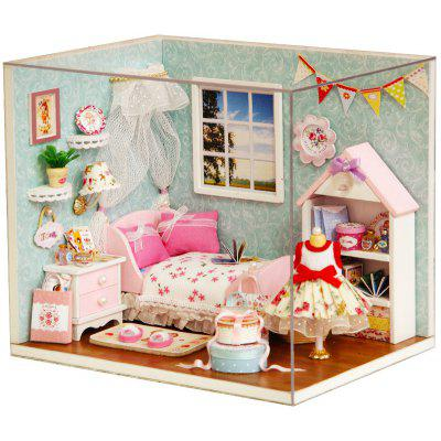 DIY Miniature Wooden Dollhouse Bedroom Model