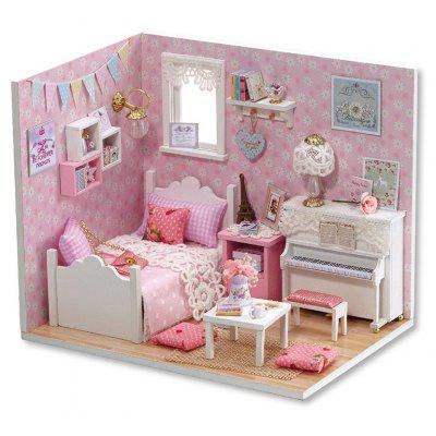 Buy COLORMIX DIY Pretend Play Wooden Dollhouse Bedroom Model for $14.92 in GearBest store