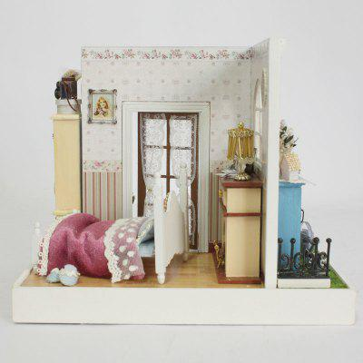 Buy COLORMIX Miniature Princess Bedroom Room Wooden Dollhouse for $25.84 in GearBest store