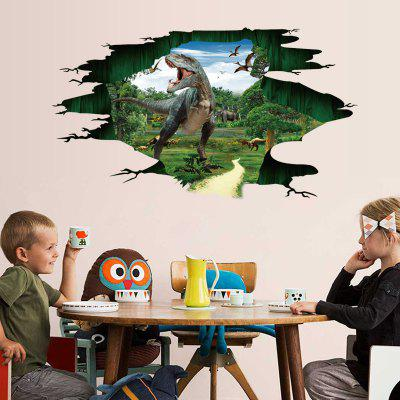 3D Dinosaur Design Creative Wall Sticker