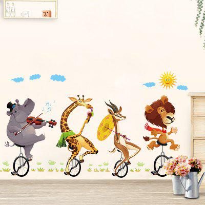 Creative DIY Removable Cartoon Animals Decal Wall Sticker