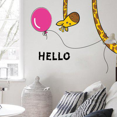 Buy COLORFUL Creative DIY Removable Giraffe Decal Wallpaper Wall Sticker for $4.83 in GearBest store